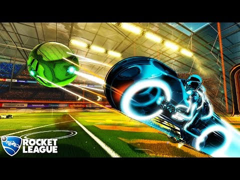 TRON Defeating Master Control - ROCKET LEAGUE
