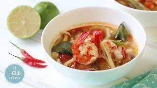 【創意料理】泰式酸辣蝦湯 Thai Tom Yum Goong Soup │HowLiving美味生活
