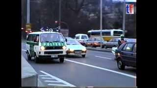Stuttgart Police VW T3 / Alarmfahrt VW T3 Polizei Stuttgart, 1991.