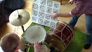 Michael Vatcher studying with George Marsh's Inner Drumming