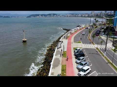 Calçadão NOVO Da Ponta Da Praia Santos