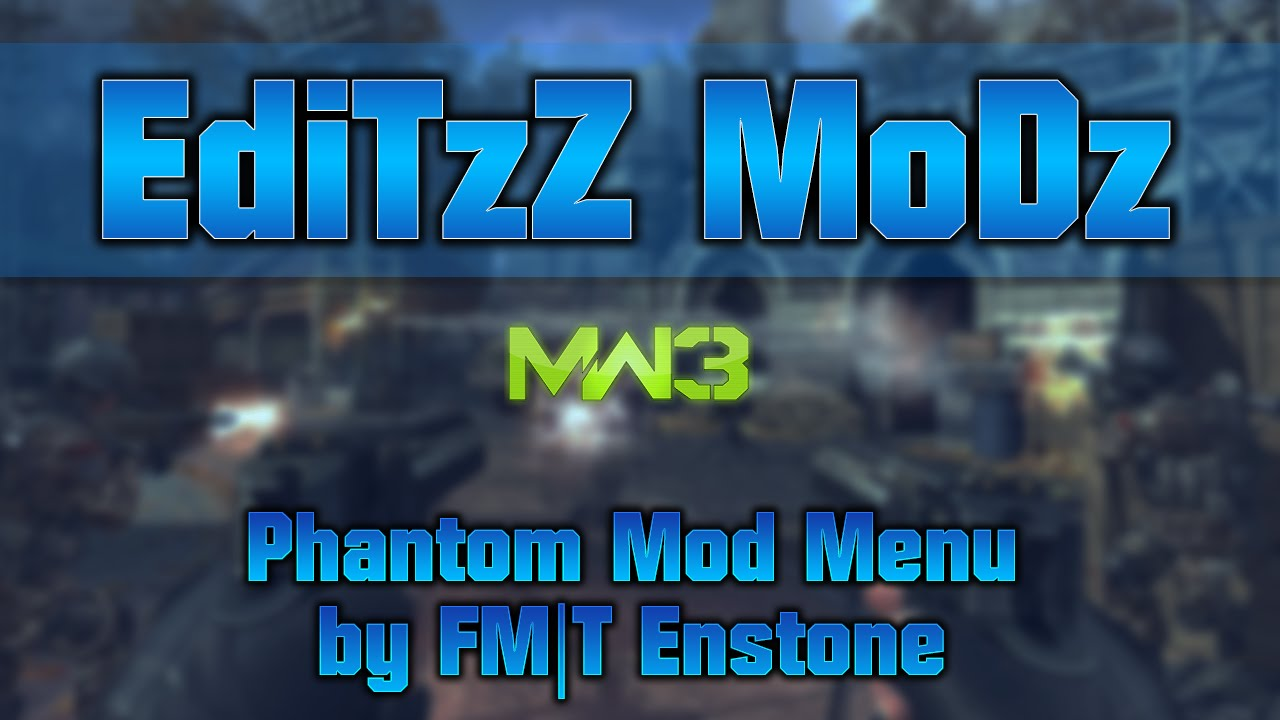 [MW3/PS3] Phantom Mod Menu (Host/All Client Stats) by EdiTzZ