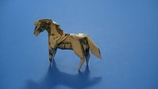 Origami Dollar Bill Horse