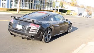 Audi R8 GT - Drive-by, Startup, Hard Acceleration - 911, Aston Martin Combo