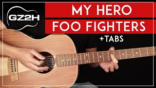 My Hero Acoustic Guitar Tutorial Foo Fighters Guitar Lesson + TABs