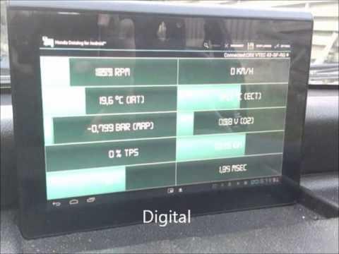 Bluetooth OBD1 Honda datalogging