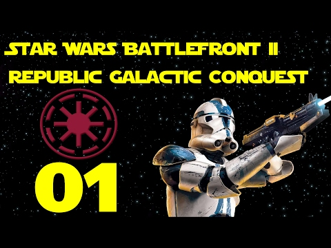 Star Wars Battlefront 2 Modded Republic Sovereignty Galactic Conquest #1 | Clone Wars Era Mod