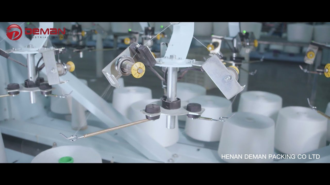 Bag sewing closer thread production process by DEMANPACK