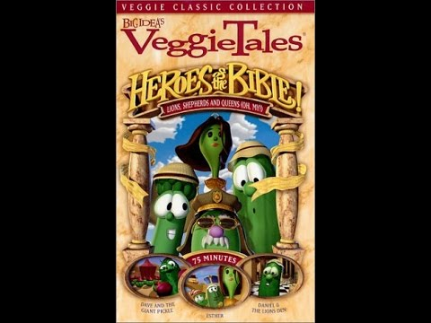 Opening To Veggietales:Heroes Of The Bible:Lions Shepards And Queens Oh My! 2001 VHS