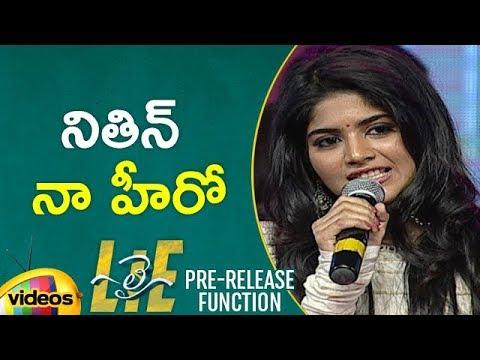 Megha Akash Speech | Lie Telugu Movie Pre Release Event | Nithin | Arjun | Mango Videos
