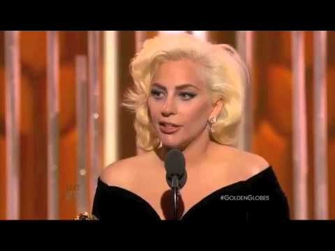 Lady Gaga wins Best Actress at the 2016 Golden Globes