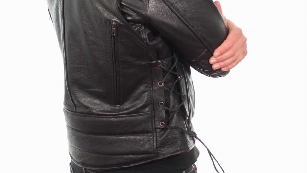 B7210 Xelement Vented Mens Leather Cool Rider Jacket At Leatherup