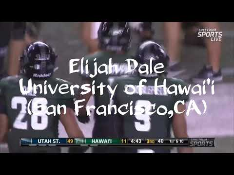 Hawaii Warriors: Elijah dale 2018 Senior Highlights