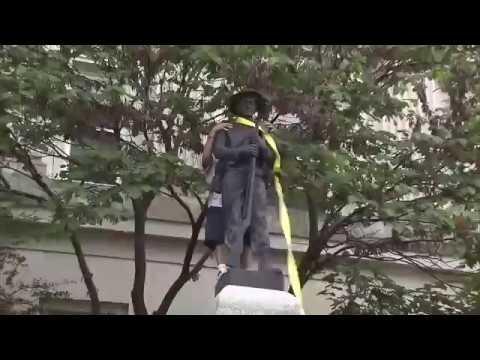 Protesters topple Confederate statue in Durham, North Carolina