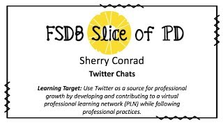 Twitter Chats for Professional Learning Network