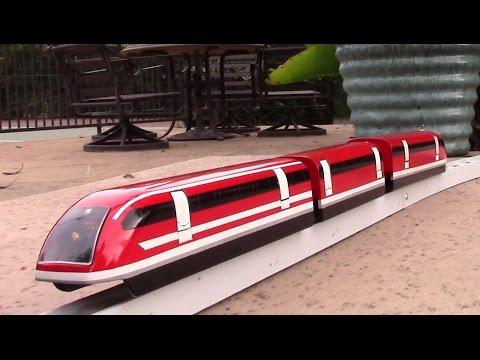 Maglev train model test run