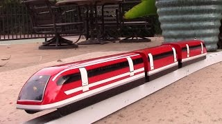 Maglev train model test run