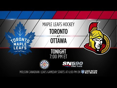 Molson Canadian Gameday: Toronto at Ottawa - January 20, 2018
