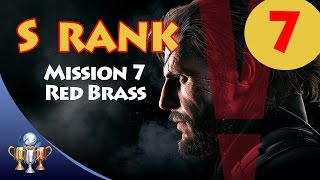 Metal Gear Solid V The Phantom Pain - S RANK Walkthrough (Mission 7 - RED BRASS)