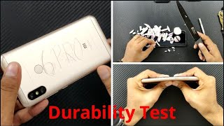 Xiaomi Redmi 6 Pro Durability Test (SCRATCH, BEND, DROP, WATER) Test !!!