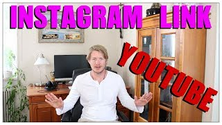 How To Add Instagram Link To Youtube Channel 2017