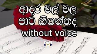 Adara Mal Wala Karaoke (Without voice) ආදර මල් වල පාට කියන්නද