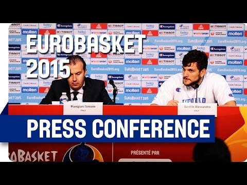 Israel v Italy - Post Game Press Conference - Live Stream - Eurobasket 2015