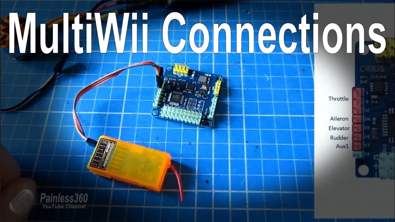 2/7) How to wire up a Multiwii SE board to your multirotor/quadcopter -  YouTube | Multiwii Wiring Diagram |  | YouTube