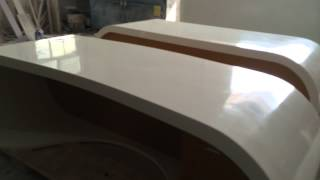 Artificial Stone Corian Google Office Desk Corian Bar Counter Reception Desk