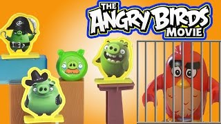 Angry Birds attack Bad Piggies Island / McDonalds Happy Meal 2016 toys / Kids channel SanSanychTV
