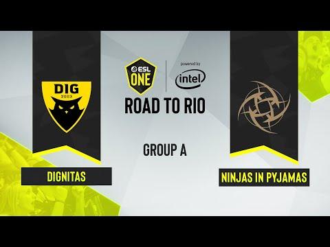 CS:GO - Dignitas Vs. Ninjas In Pyjamas [Inferno] Map 1 - ESL One: Road To Rio - Group A - EU