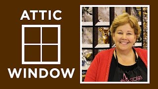 Attic Windows Quilt with a Panel: Easy Quilting Tutorial with Jenny Doan of Missouri Star Quilt Co thumbnail