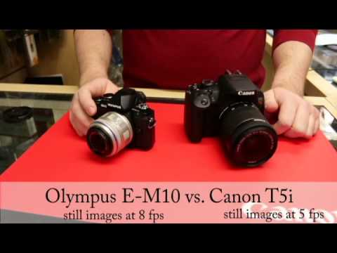Olympus e m10 vs canon t5i which is the better entry level camera