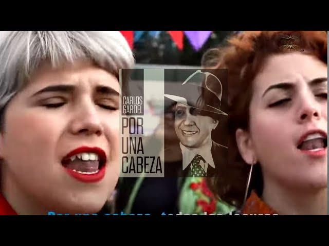 EMOCIONANTE ! Carlos Gardel por una cabeza fusión con músicos jóvenes contemporáneos 2020 - 1935