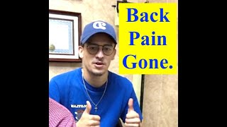 My Back Pain is Gone.  Brian's Story.  Euclid Chiropractic. Upland, Claremont, Cucamonga.