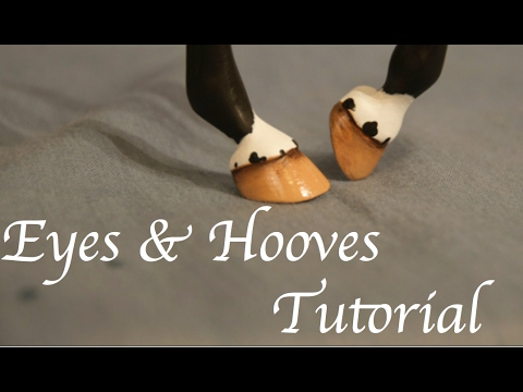 Painting a model horse: Eyes and Hooves Tutorial