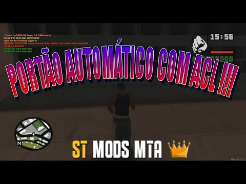 MTA SA - PORTÃO AUTOMÁTICO COM ACL