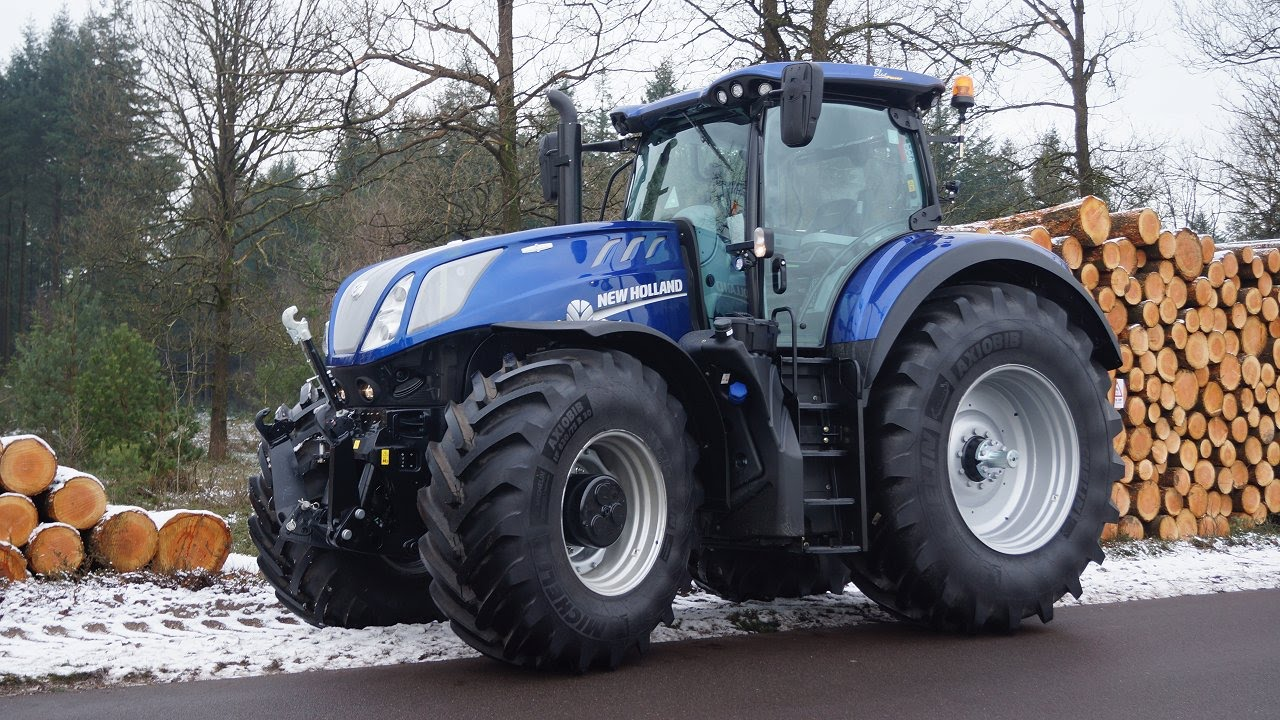 Test drive New Holland T7 315 HD Blue Power Heavy Duty van New Holland  Trekkerweb primeur new
