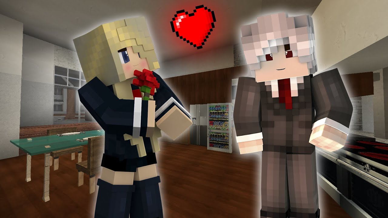 School Days 2 CENA ROMANTICA Historia En Minecraft 3 CILIO YouTube
