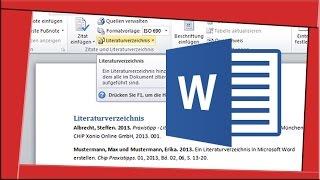 LITERATURVERZEICHNIS ERSTELLEN [Word] Projektarbeit, Facharbeit, Bachelorarbeit
