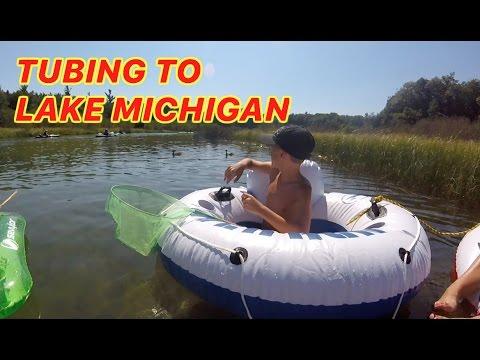 TUBING THE PLATTE RIVER INTO LAKE MICHIGAN-VLOG3