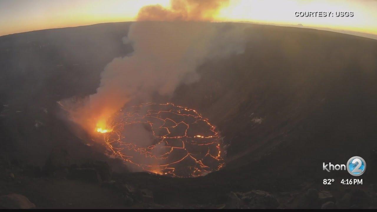 Kilauea lava lake grows to 554 feet deep - KHON2 News