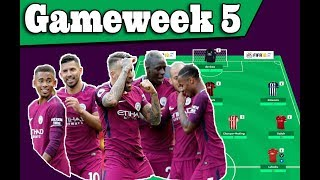Gameweek 5 team results and wildcard active! fantasy premier league 2017/18