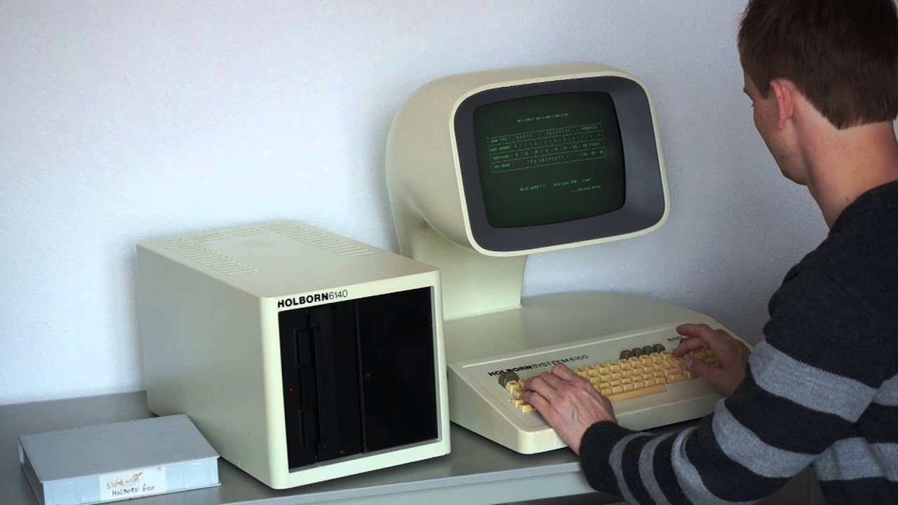 Dutch And Company >> Holborn 6100 Z80 vintage computer - YouTube