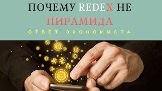 Почему RedeX  НЕ пирамида! Ответ экономиста.