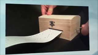 Wooden Music Box. 30 Note Hand Crank Music Box - Diy Or Custom Made Paper Strip Songs