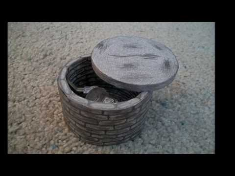 """Paper Model of the Well from the Movie """"The Ring"""""""