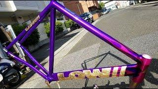 オートバイの塗装屋がロードバイクを塗るとこういうことになる