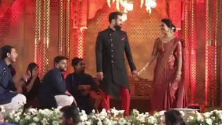 BEST INDIAN WEDDING RECEPTION DANCE PERFORMANCE BY FRIENDS & COUSINS !| Bride & Groom surprise dance
