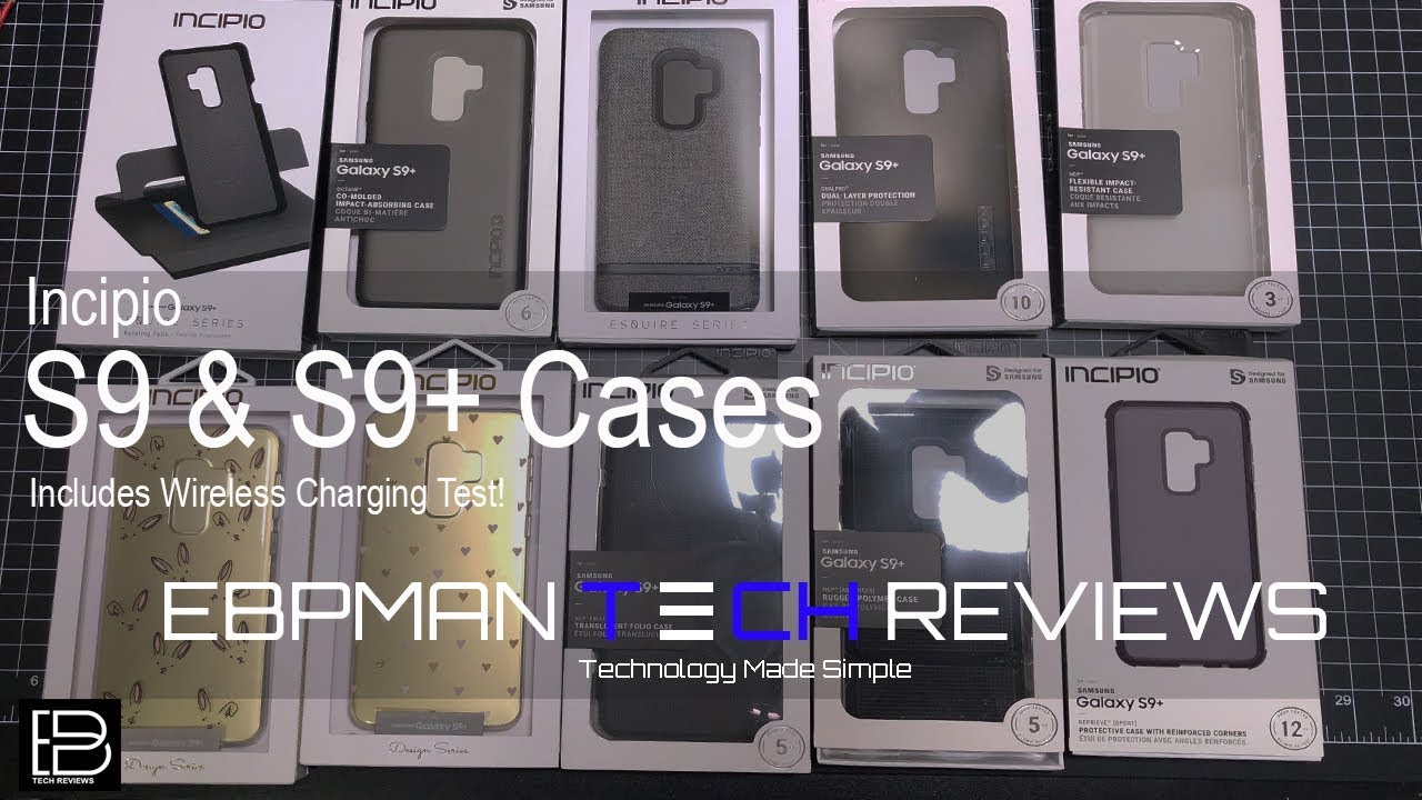 reputable site 468d2 1a299 Samsung Galaxy S9 & S9 Plus Incipio Cases with Wireless Charging Test